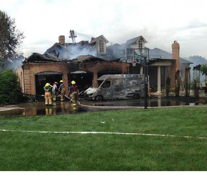 Lightning causes house fire