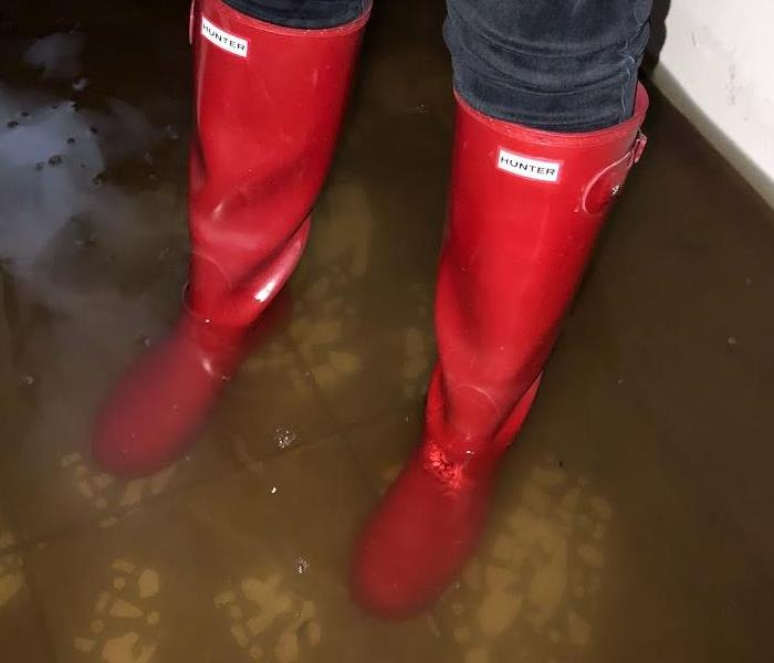 Use Caution In Standing Water - Boots in Water